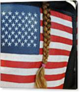 Patriotic Pony Tail Canvas Print