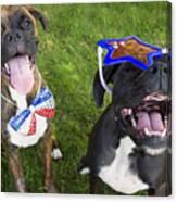 Patriotic Pups Canvas Print