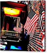 Patriotic Tavern Canvas Print