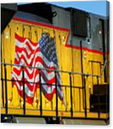 Patriotic Train Canvas Print