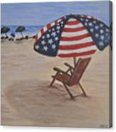 Patriotic Umbrella Canvas Print