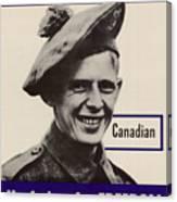 Patriotic World War 2 Poster Us Allies Canada Canvas Print