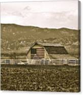 Patriotism And Barn Canvas Print