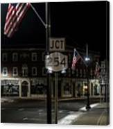 Patriotism In A Small Town Canvas Print