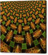 Pattern Brown With Green Canvas Print