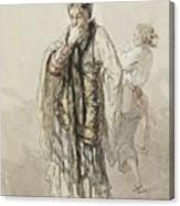 Paul Gavarni French, 1804-1866 Actors Canvas Print