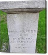 Paul Revere Grave  Canvas Print