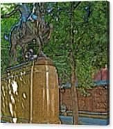 Paul Revere Rides In Boston-massachusetts  Canvas Print