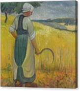 Paul Serusier 1864 - 1927 Breton Young To Sickle Canvas Print
