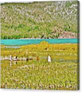 Paulina Lake Formed After Newberry Crater Erupted 1200 Years Ago In Oregon Canvas Print