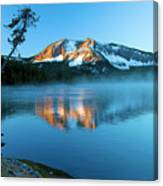 Paulina Peak In Paulina Lake Canvas Print
