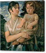 Pauline Runge With Her Two Year Old Son Canvas Print