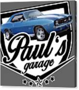 Pauls Garage Camaro Canvas Print