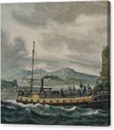 Pavel Petrovich Svinin, 1787 -1839, Steamboat Travel On The Hudson River Canvas Print
