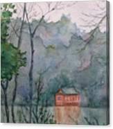 Pavilion At River's Edge China Canvas Print