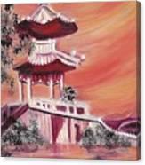 Pavillion In China Canvas Print
