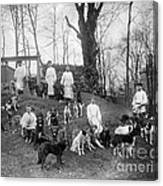 Pavlovs Dogs With Their Keepers, 1904 Canvas Print