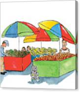 Paw Paw At The Market Canvas Print