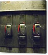 Pay Phones In Alley, Venice Canvas Print