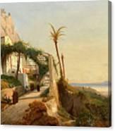 Paysage De La Cte Amalfitaine Avec Des Canvas Print