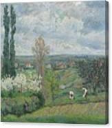 Paysage D'ile De France By Armand Guillaumin Canvas Print