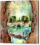 Paysage With A Boat Canvas Print