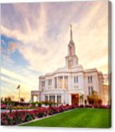 Payson Utah Temple Dramatic View Canvas Print