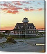 Oregon Inlet Life Saving Station 2687 Pano Signed Canvas Print