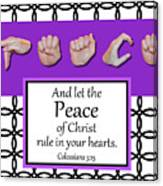 Peace - Bw Graphic Canvas Print