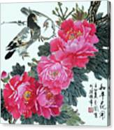 Peace Flowers Canvas Print