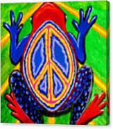 Peace Frog Too Canvas Print