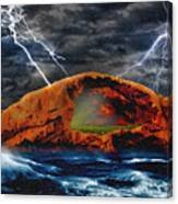Peace In The Cleft In The Midst Of The Storm Canvas Print