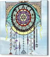 Peace Kite Dangle Illustration Art Canvas Print