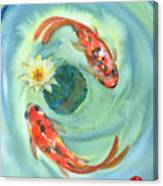 Peace Koi Canvas Print