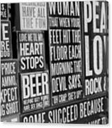 Peace, Love And Rock N Roll Canvas Print