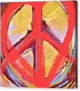 Peace Love  Art Canvas Print