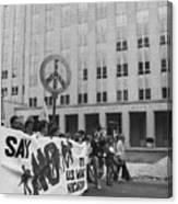 Peace March 1986 Canvas Print