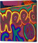 Peace Of Weed Canvas Print