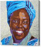 Peace Portrait Three Wangari Maathai Canvas Print