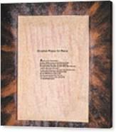 Peace Prayers - Christian Prayer For Peace Canvas Print