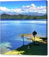Peace Rara Lake Canvas Print