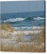 Peaceful  Beach Shoreline Canvas Print