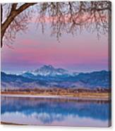 Peaceful Early Morning First Light Longs Peak View Canvas Print