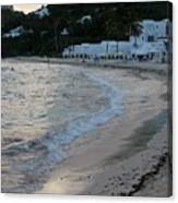 Peaceful Evening On Dawn Beach Canvas Print