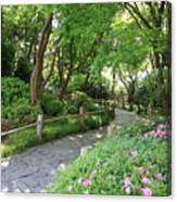 Peaceful Garden Path Canvas Print