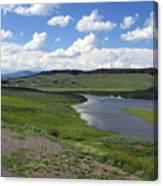 Peaceful Lake at Yellowstone Canvas Print