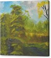 Peaceful Land 12x24 By Artist Bryan Perry Canvas Print