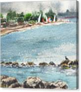 Peaceful Morning At The Harbor  Canvas Print