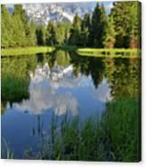 Peaceful Morning In Grand Teton Np Canvas Print