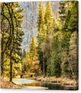 Peaceful Mountain River Canvas Print